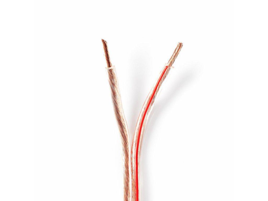2801 repro kabel 2x 4 00 mm med 25 0 m kulaty pvc transparentni role