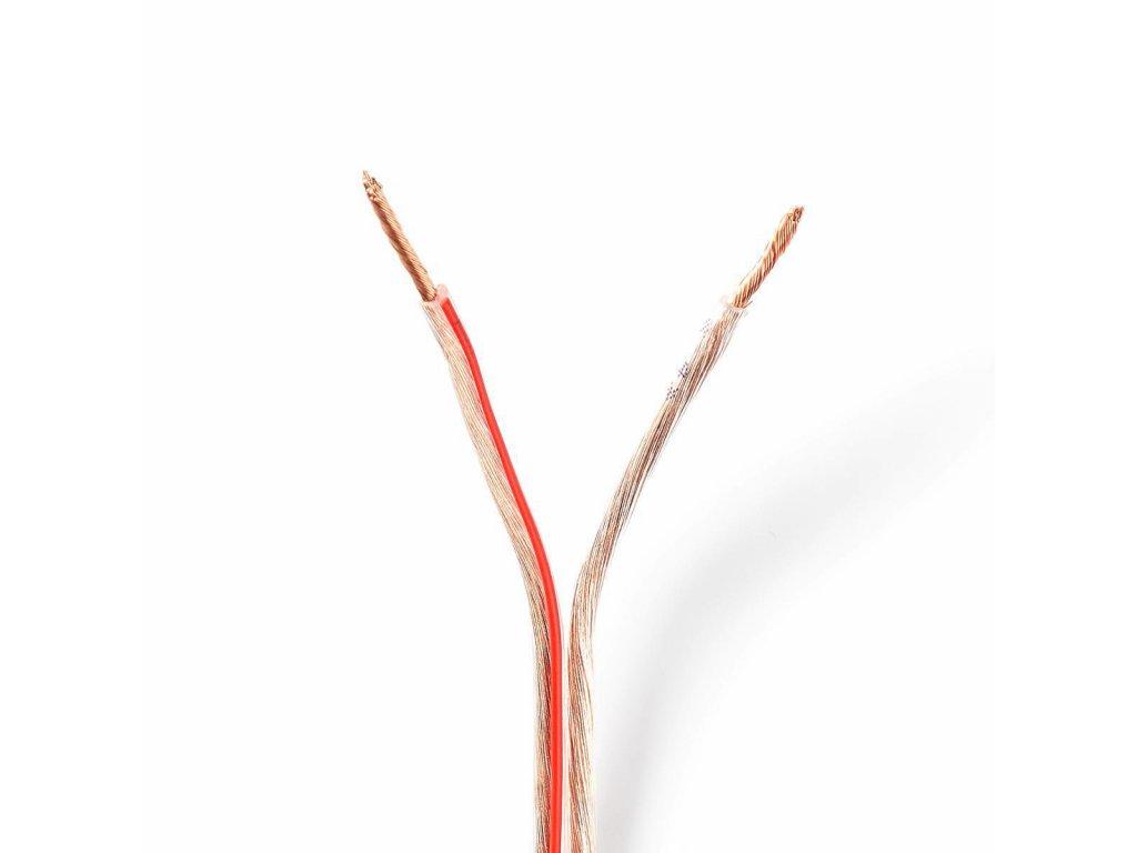 2864 repro kabel 2x 1 50 mm cca 15 0 m kulaty pvc transparentni klubko
