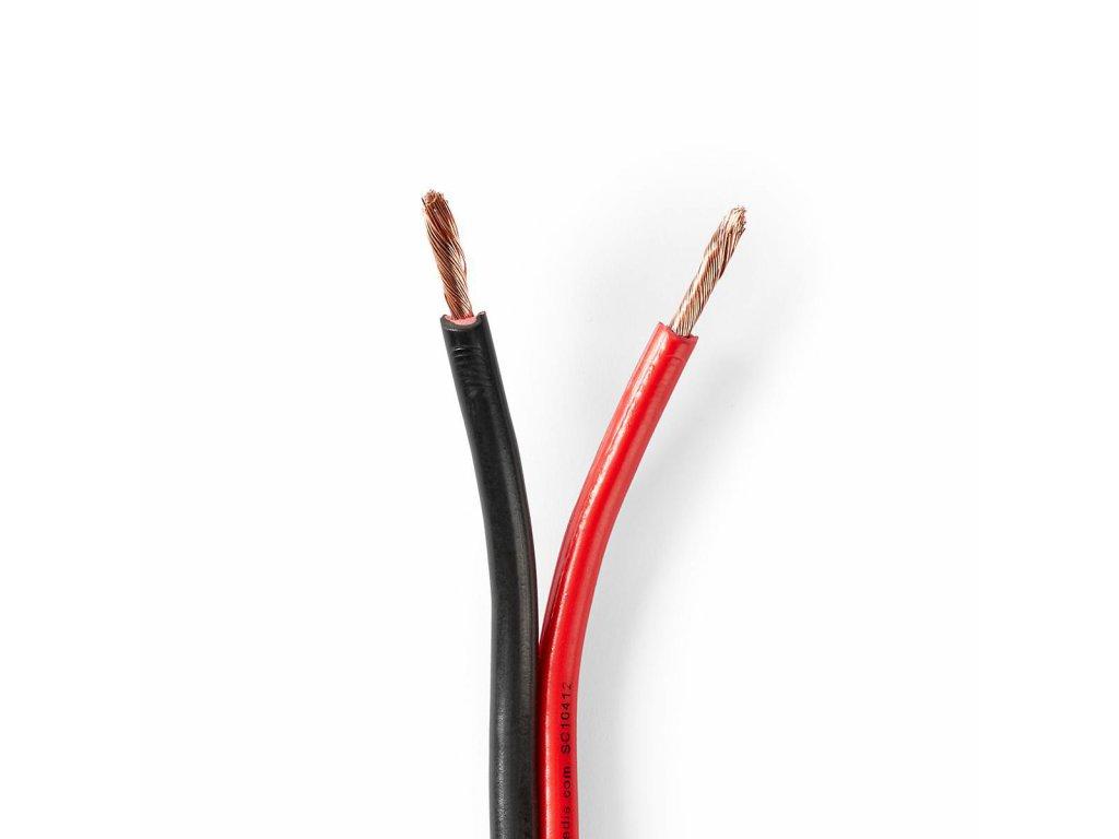 2903 repro kabel 2x 2 50 mm cca 25 0 m kulaty pvc cerna cervena klubko