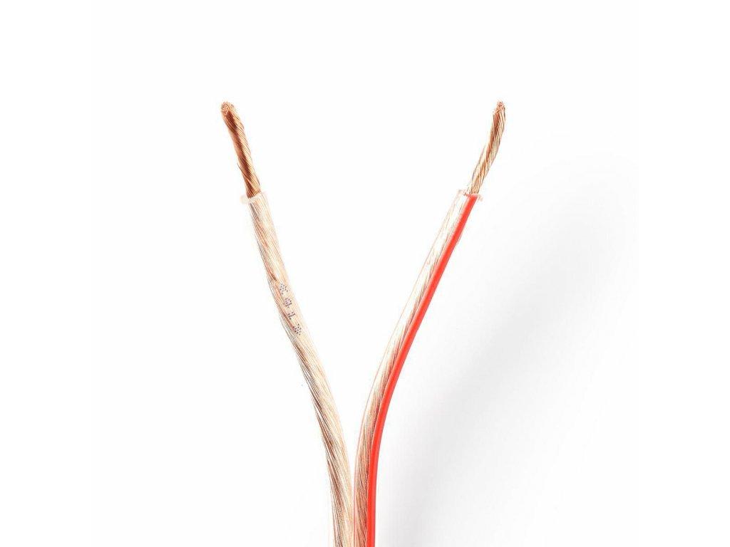 2909 repro kabel 2x 2 50 mm cca 15 0 m kulaty pvc transparentni klubko