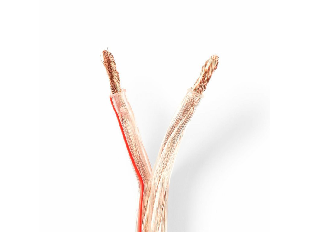 2942 repro kabel 2x 6 00 mm cca 100 0 m kulaty pvc transparentni klubko