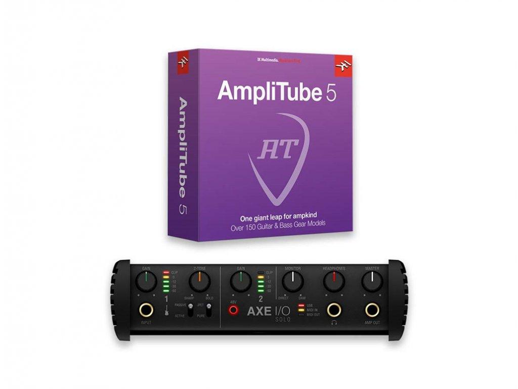 55550 ik multimedia axe i o solo amplitube 5 bundle
