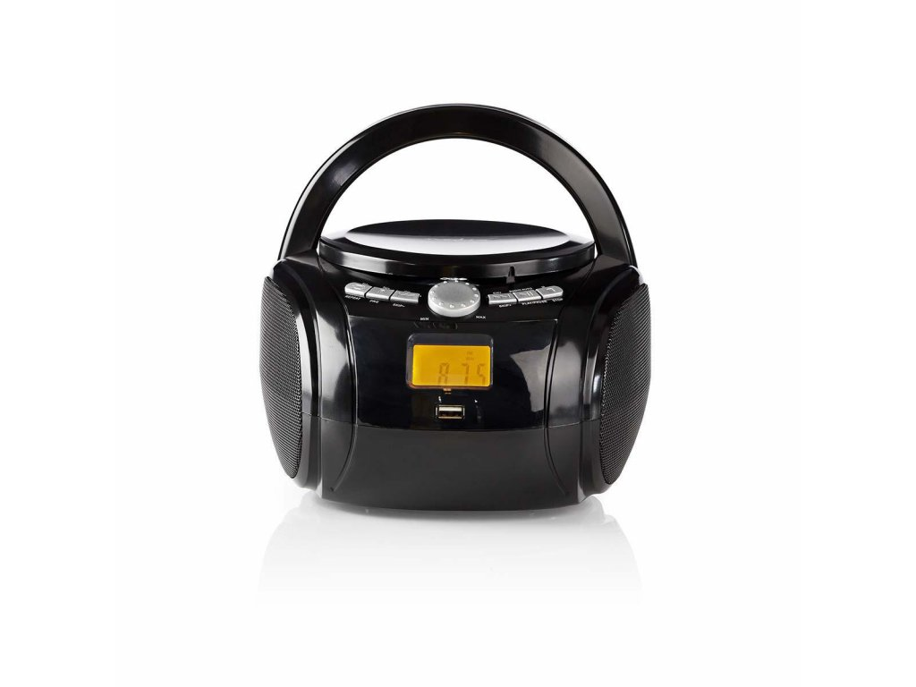 725 1 cd prehravac boombox napajeni z baterie sitove napajeni stereo 9 w bluetooth fm usb prehravani drzadlo cerna