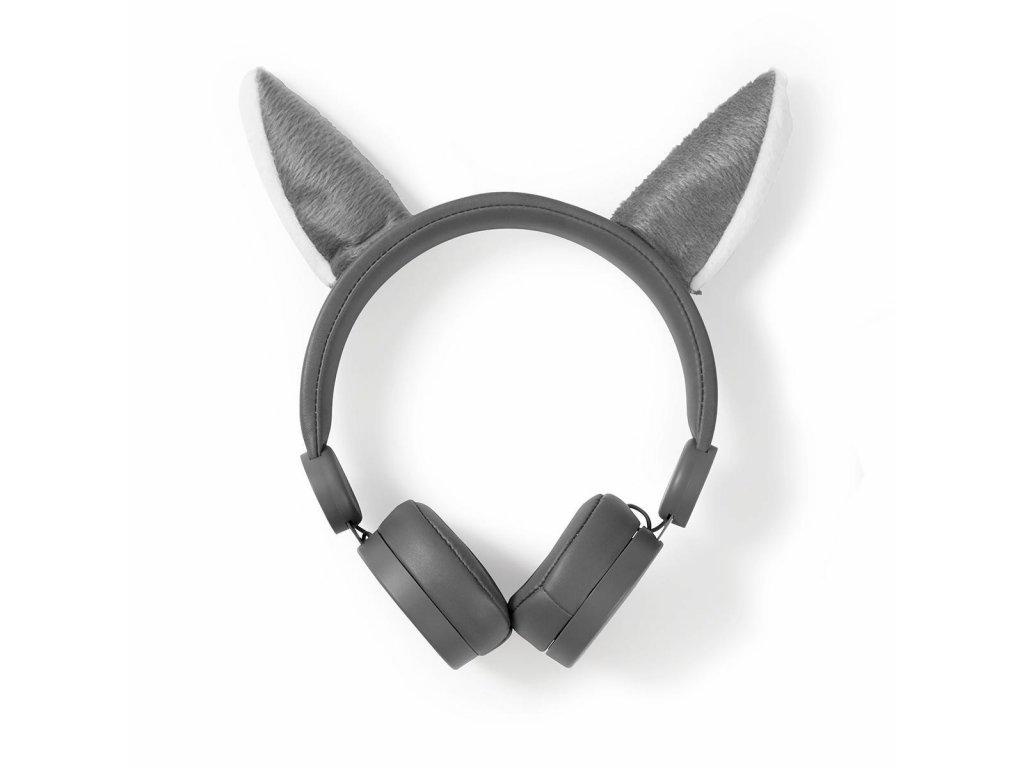 845 1 dratova sluchatka 1 2m kulaty kabel na usi odpojitelna magneticka ouska willy wolf seda