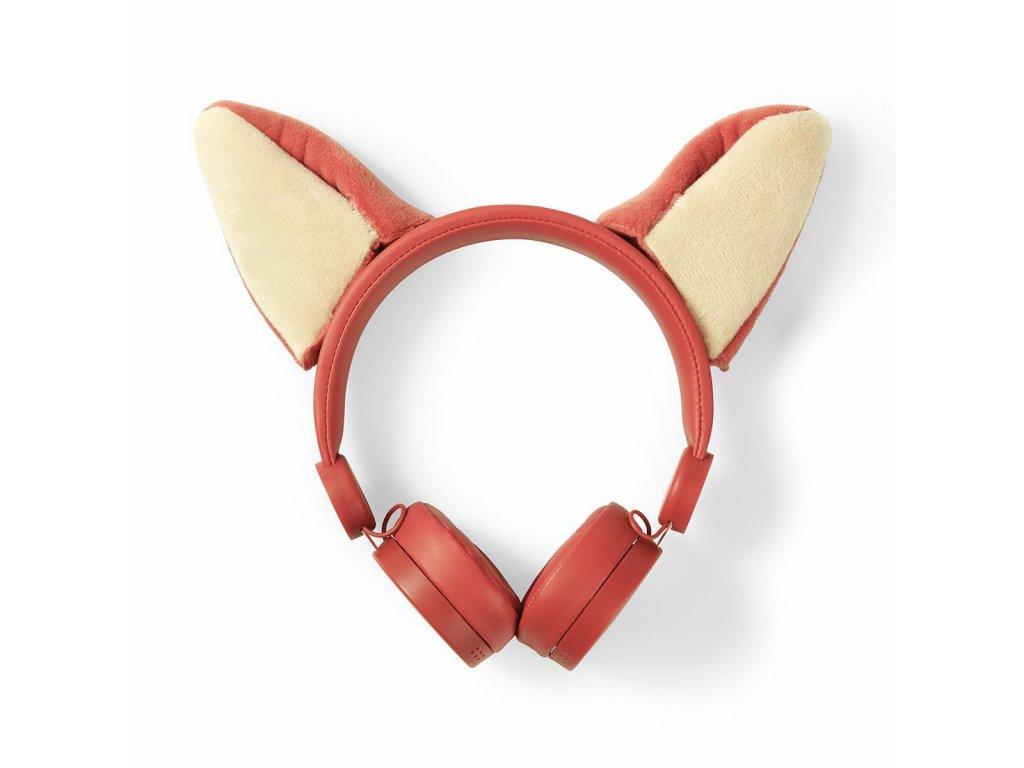 848 1 dratova sluchatka 1 2m kulaty kabel na usi odpojitelna magneticka ouska franky fox oranzova