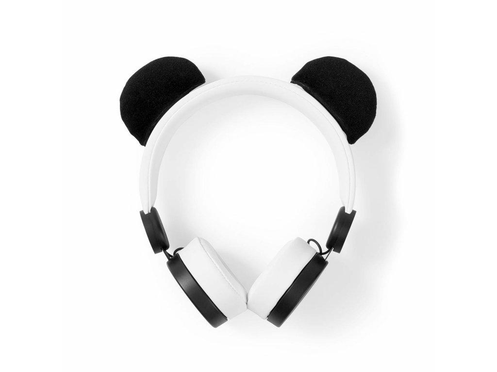 863 1 dratova sluchatka 1 2m kulaty kabel na usi odpojitelna magneticka ouska patty panda bila