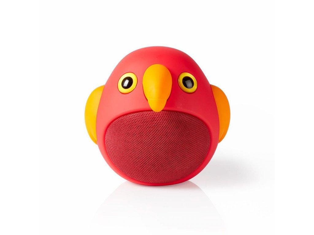 956 1 bluetooth reproduktor doba prehravani na baterie az 3 hodiny do ruky 9 w mono vestaveny mikrofon propojitelny animaticks perry parrot cervena