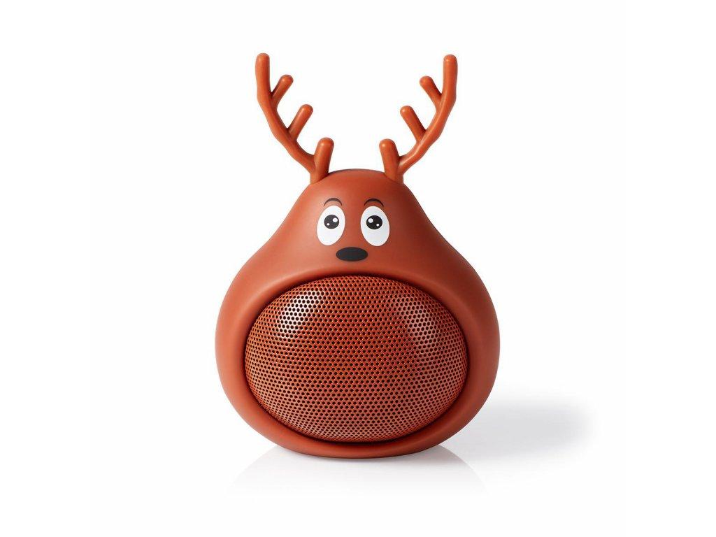 962 1 bluetooth reproduktor doba prehravani na baterie az 3 hodiny do ruky 9 w mono vestaveny mikrofon propojitelny animaticks rudy reindeer hneda