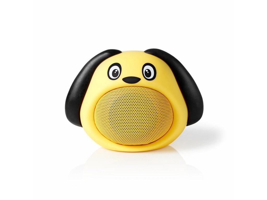 965 1 bluetooth reproduktor doba prehravani na baterie az 3 hodiny do ruky 9 w mono vestaveny mikrofon propojitelny animaticks dusty dog zluta