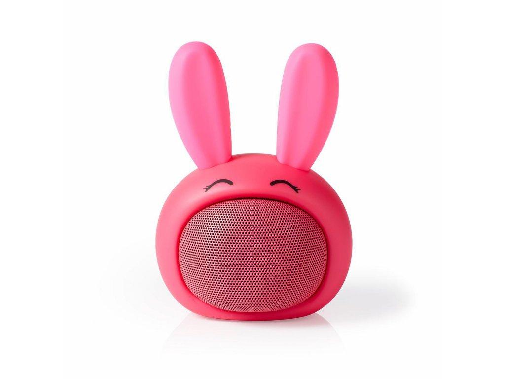 968 1 bluetooth reproduktor doba prehravani na baterie az 3 hodiny do ruky 9 w mono vestaveny mikrofon propojitelny animaticks robby rabbit ruzova