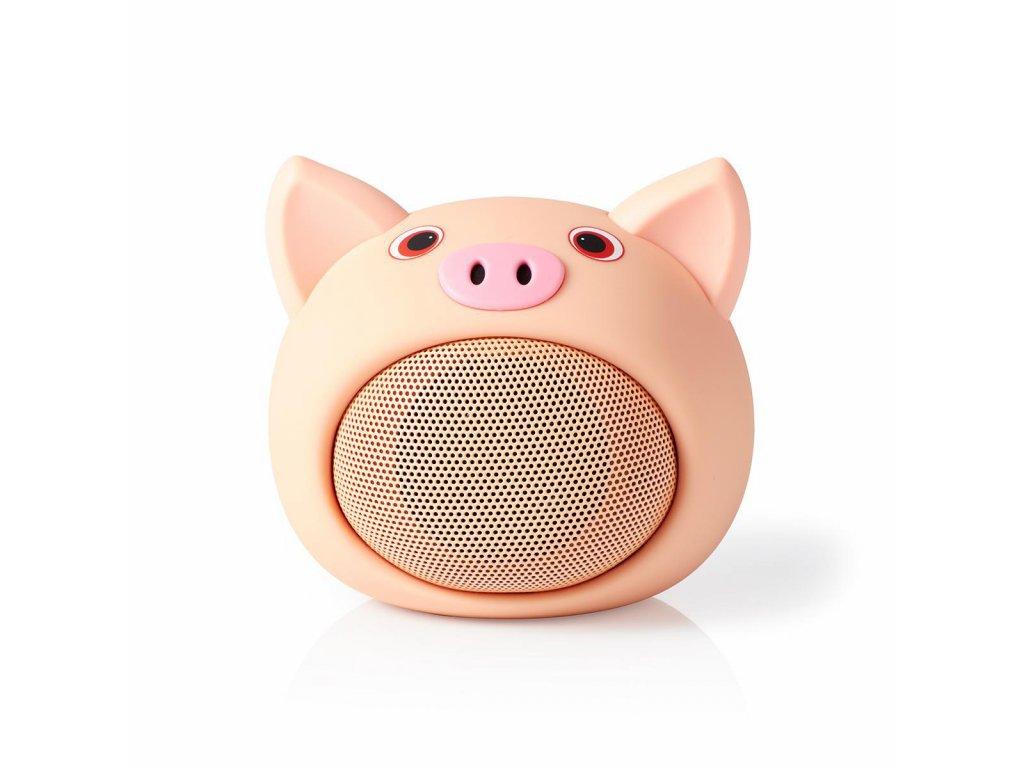 971 1 bluetooth reproduktor doba prehravani na baterie az 3 hodiny do ruky 9 w mono vestaveny mikrofon propojitelny animaticks pinky pig ruzova