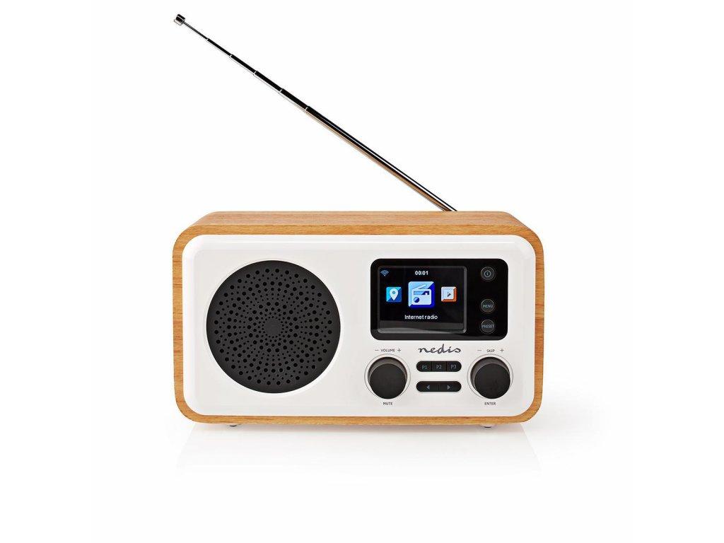 989 1 internet radio stolni provedeni bluetooth wi fi dab fm internet 2 4 barevna obrazovka 7 w dalkove ovladane ovladani aplikaci budik bila drevo