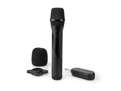 1019 1 bezdratovy mikrofon 1 mikrofon kardioid 70 hz 13 khz 1000 ohm 95 db ovladani hlasitosti cerna