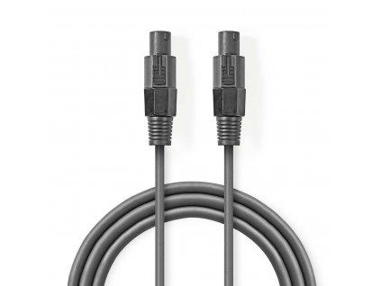 2477 reproduktorovy kabel 1 5 mm2 reproduktorova 2pinova zasuvka f reproduktorova 2pinova zasuvka f 15 m seda barva