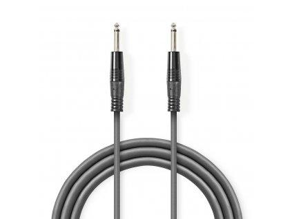 2639 mono audio kabel m 6 35 mm m 6 35 mm poniklovany 10 0 m kulaty pvc