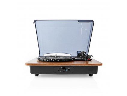 797 1 gramofon 33 rpm 45 rpm 78 rpm remenovy pohon 1x stereo rca bluetooth 9 w vestaveny pred zesilovac mdf abs hneda cerna