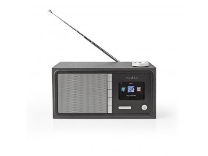 980 1 internet radio stolni provedeni bluetooth wi fi fm internet 2 4 barevna obrazovka 18 w dalkove ovladane ovladani aplikaci vystup pro sluchatka budik casovac vypnuti cerna
