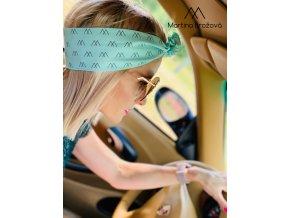Stylový šátek do vlasů - tyrkysový