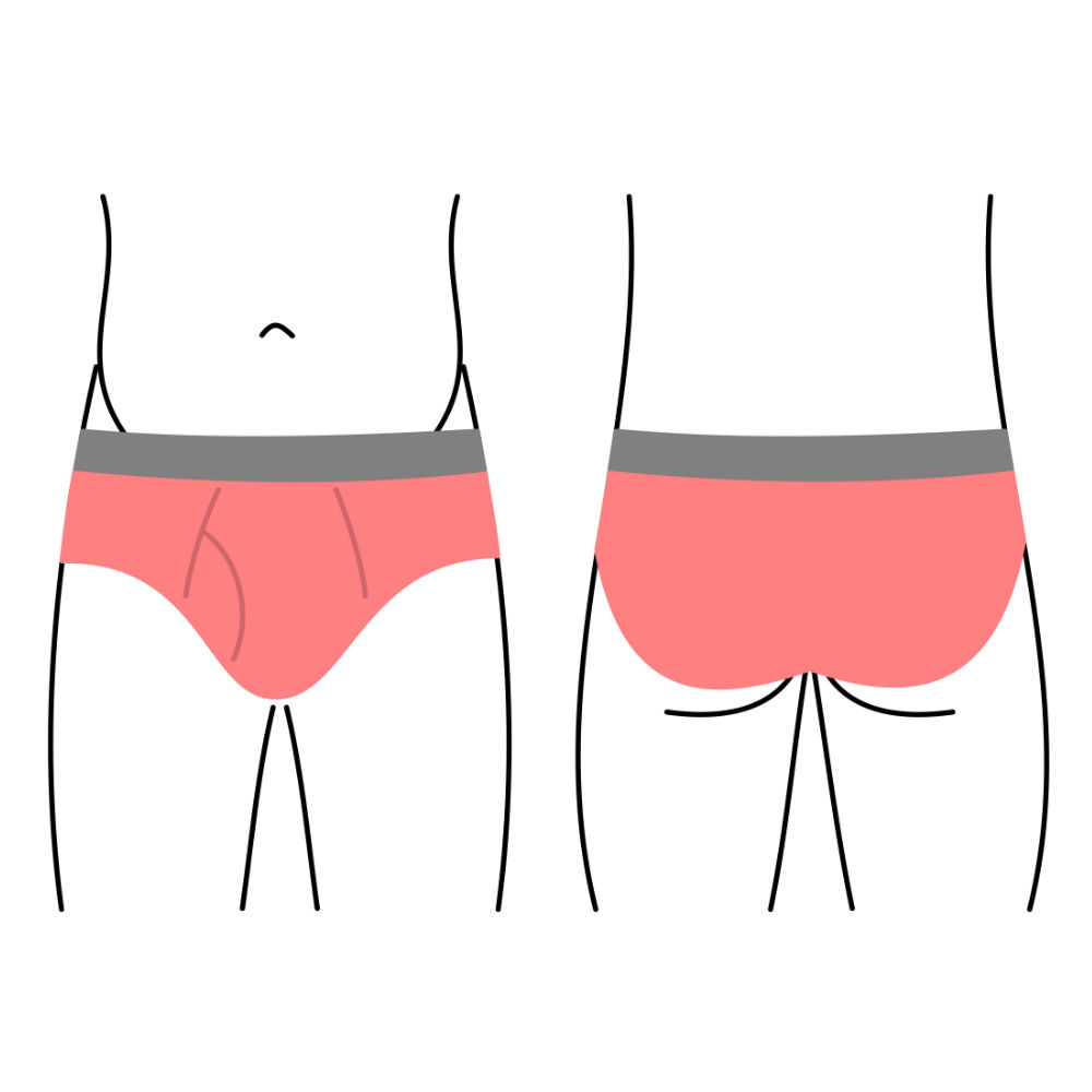 Pánské slipy, spodní prádlo - klasický střih