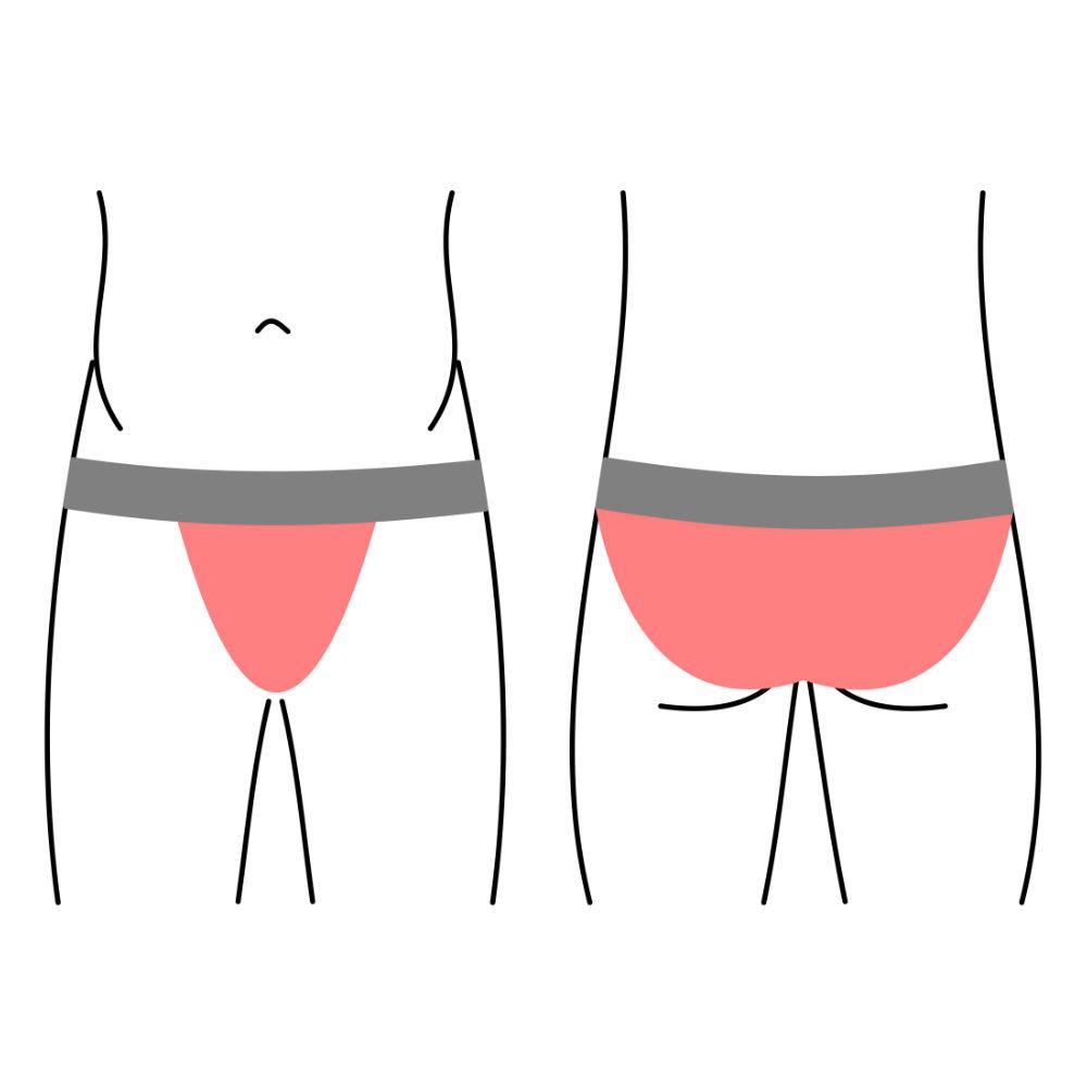 Pánské slipy, spodní prádlo - vysoce vykrojené