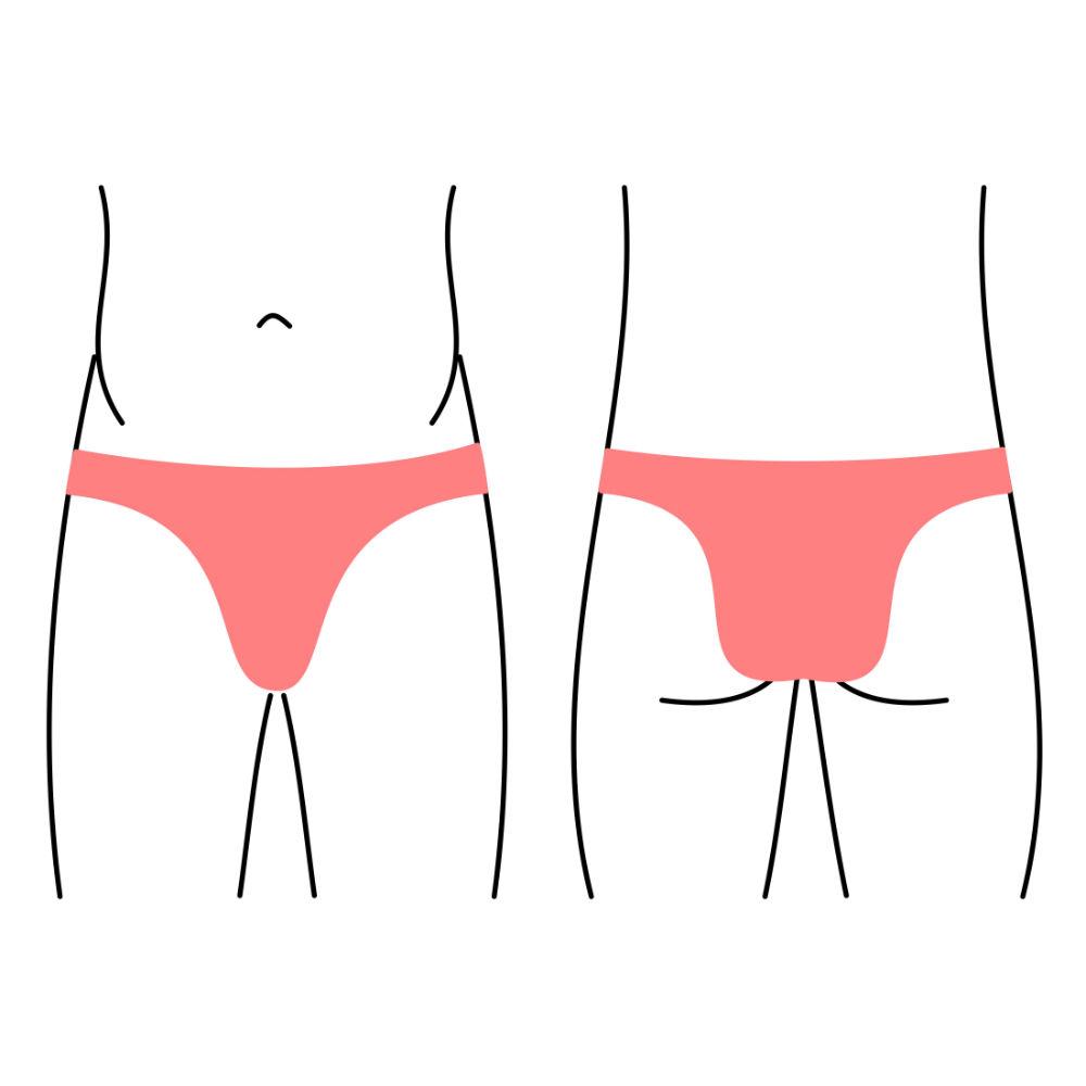 Pánské slipy, spodní prádlo - zúžený zadní díl