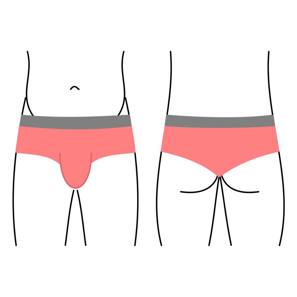 Pánské plavky - ultra krátká nohavička