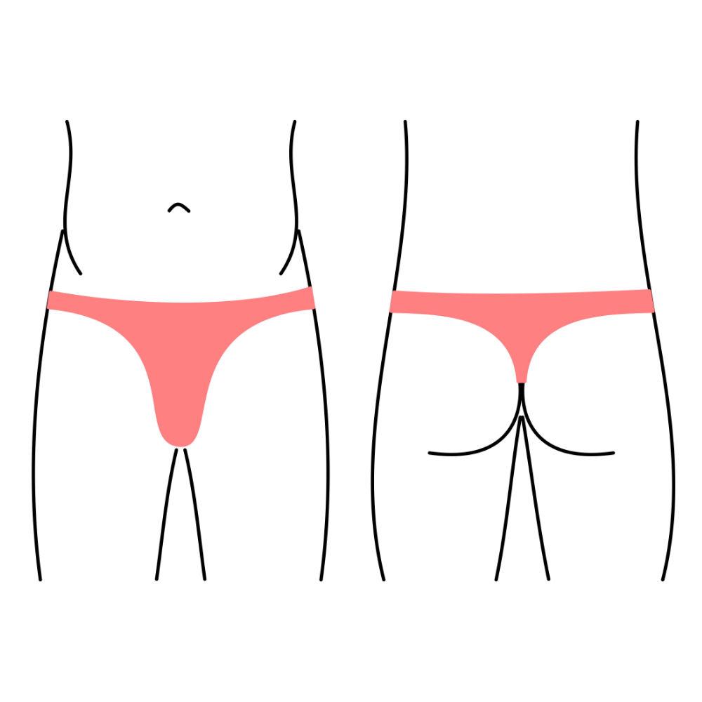 Pánské plavky - střih tanga, string