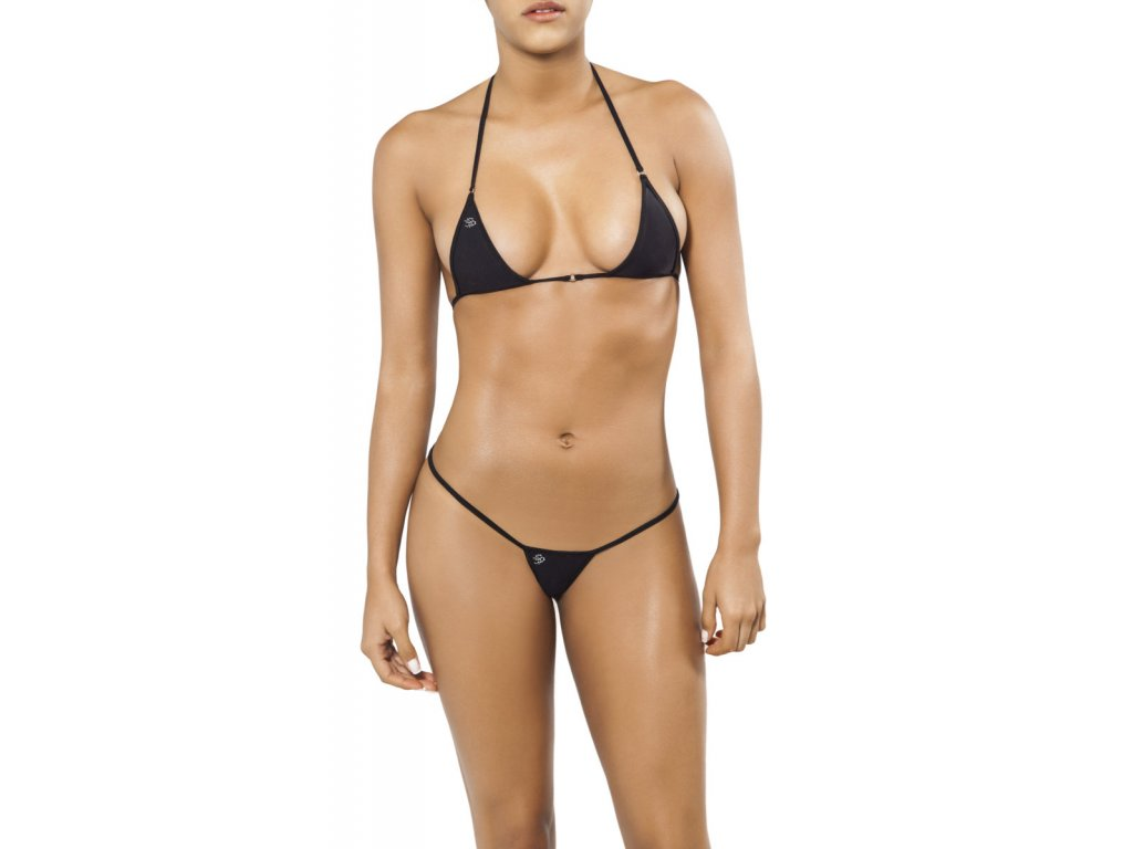 Joe Snyder SANTORINI-SKYROS string bikiny black JS-WC-102202