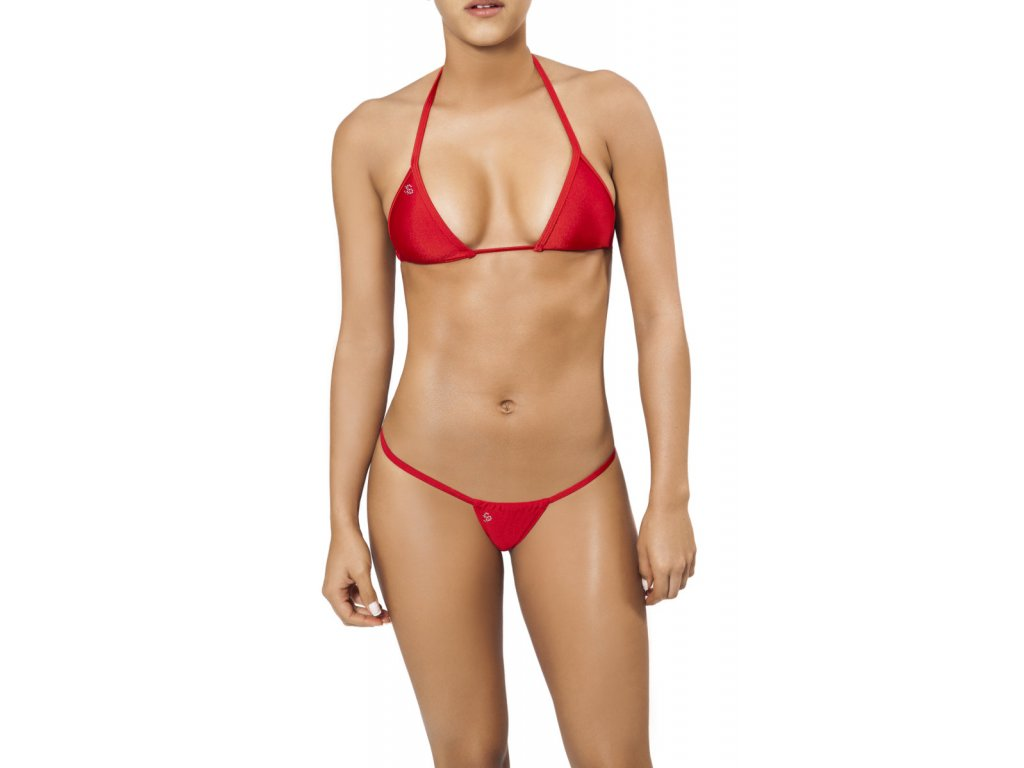 Joe Snyder LEFKADA-ANDROS kini bikiny red JS-WC-103203