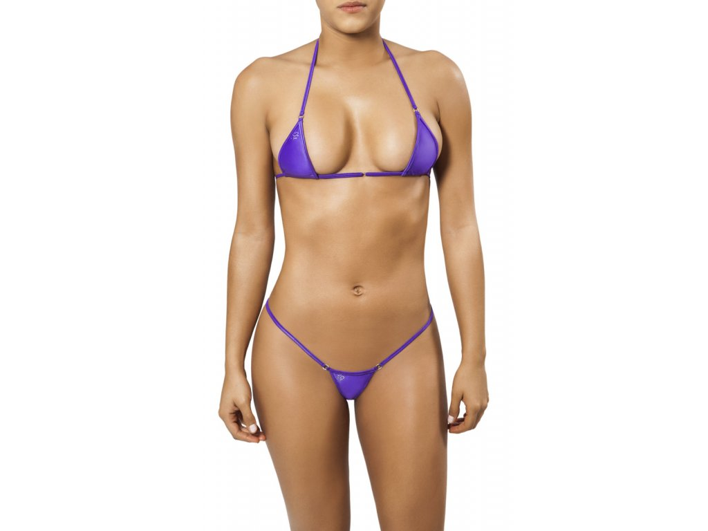 Joe Snyder MYKONOS-TINOS string bikiny purpura JS-WC-101201