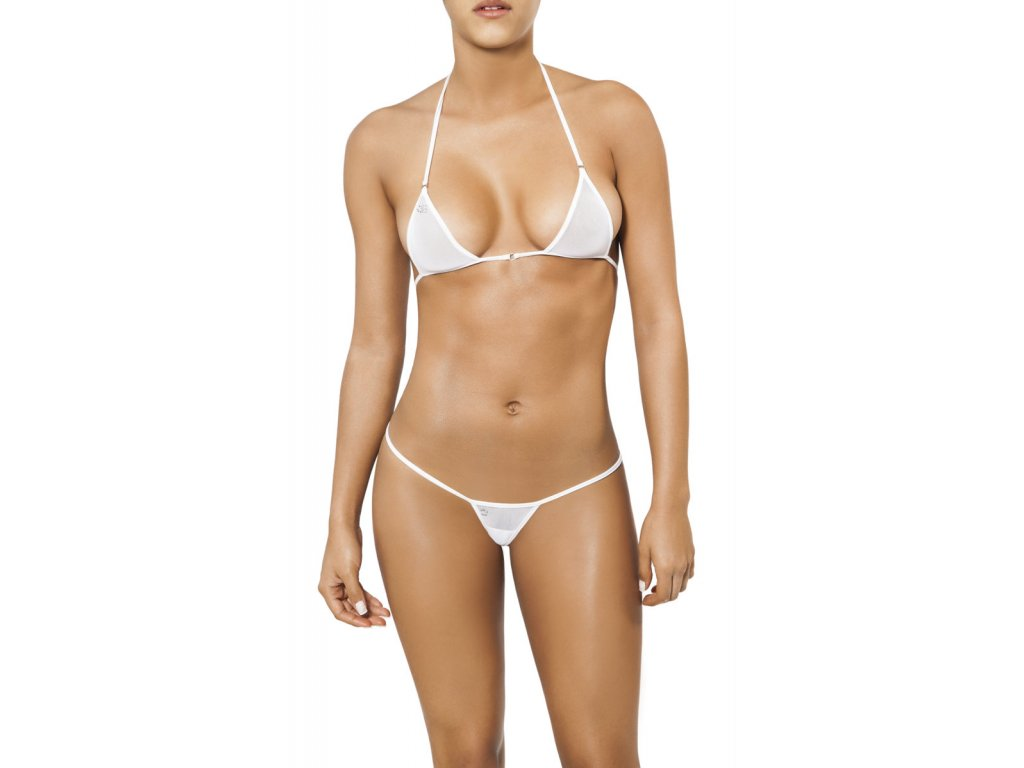 Joe Snyder SANTORINI-SKYROS string bikiny white-sheer JS-WC-102202