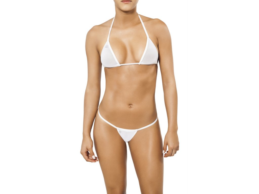 Joe Snyder LEFKADA-ANDROS kini bikiny white-sheer JS-WC-103203