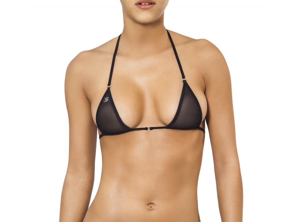 Joe Snyder SANTORINI TOP bikiny black-sheer JS-W-202