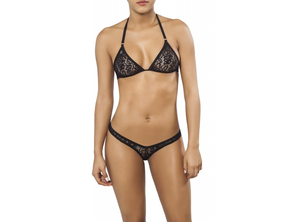 Joe Snyder CORFU-CRETE tanga bikiny black-lace JS-WC-106205