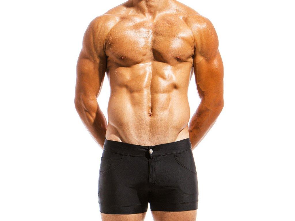 ms1831 black fr(2) modus vivendi swimwear basics line short