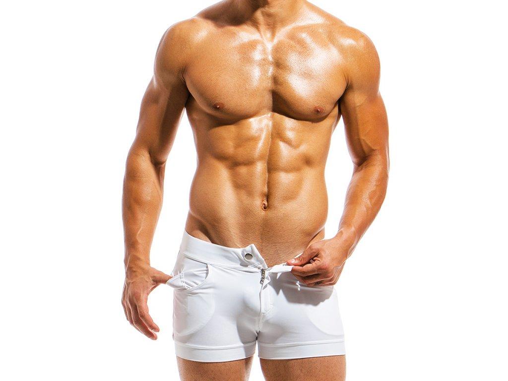 ms1831 white fr(2) modus vivendi swimwear basics line short