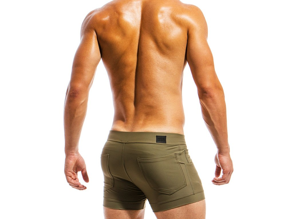 ms1831 khaki b modus vivendi swimwear basics line short