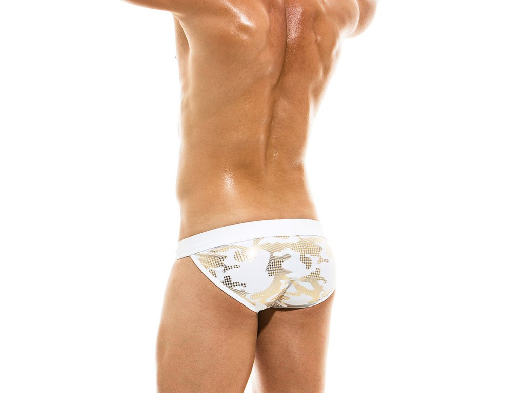 AS1911 white gold modus vivendi gay swimwear glitter line tanga brief 2 b0ak j0