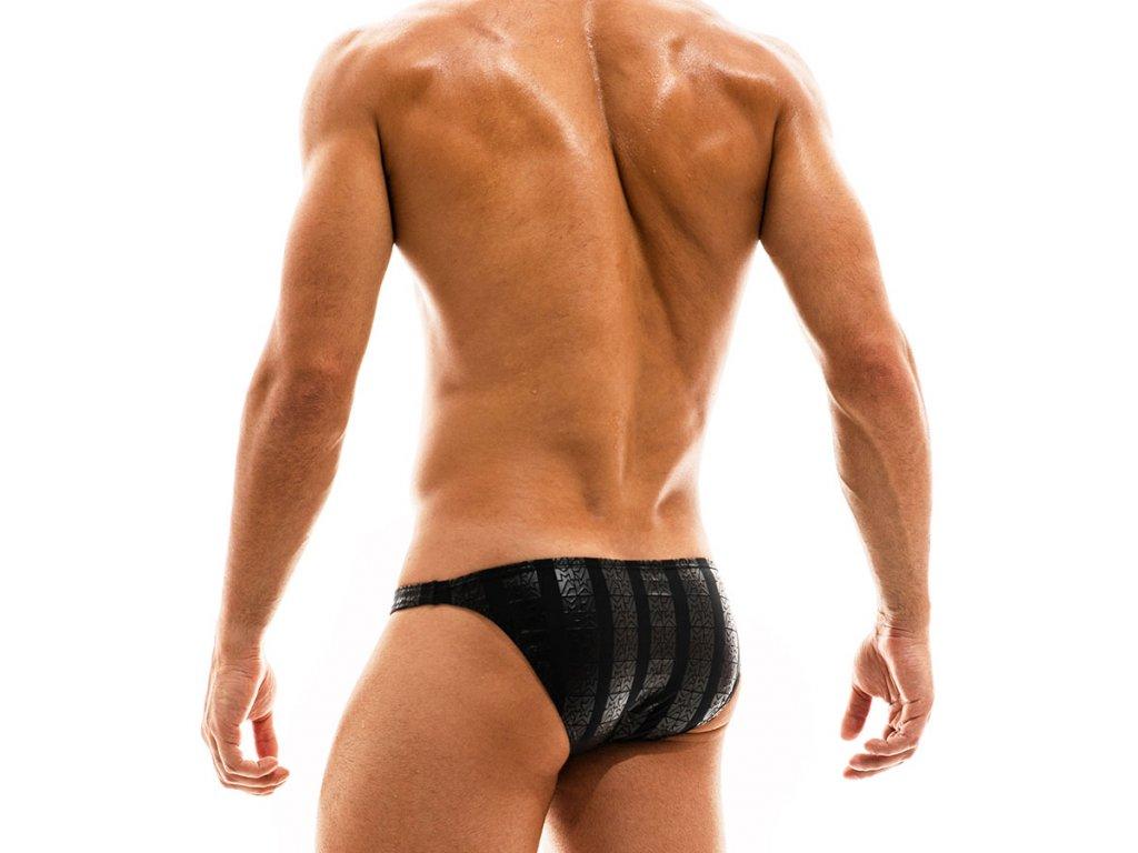 ES2011 black modus vivendi swimwear tyres line low cut brief 2