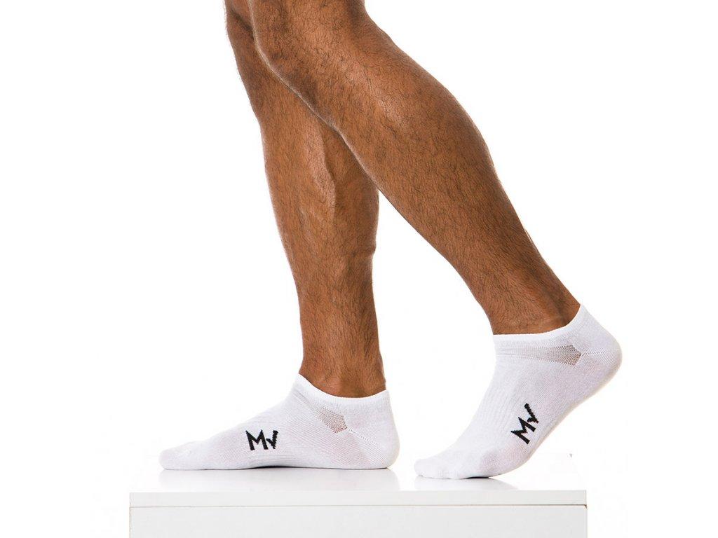 XS1818 white modus vivendi accessories gay accessories line gym socks 1