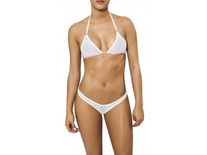 Joe Snyder CORFU-RHODES tanga bikiny white-sheer JS-WC-105205