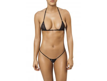 Joe Snyder MYKONOS-TINOS string bikiny black-sheer JS-WC-101201