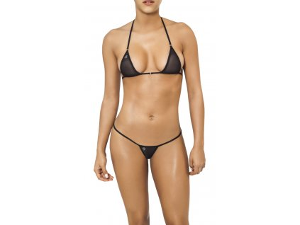 Joe Snyder SANTORINI-SKYROS string bikiny black-sheer JS-WC-102202