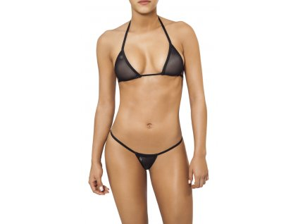 Joe Snyder LEFKADA-ANDROS kini bikiny black-sheer JS-WC-103203