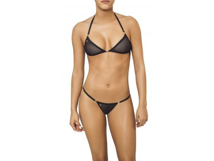 Joe Snyder LEMNOS-NAXOS kini bikiny black-sheer JS-WC-104204