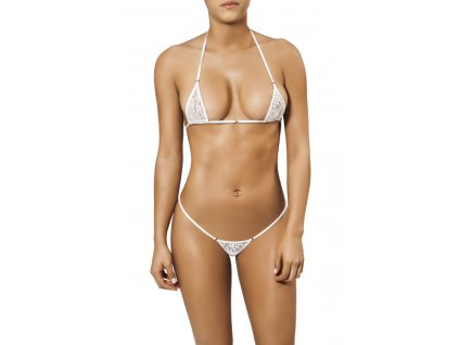Joe Snyder MYKONOS-TINOS string bikiny white-lace JS-WC-101201