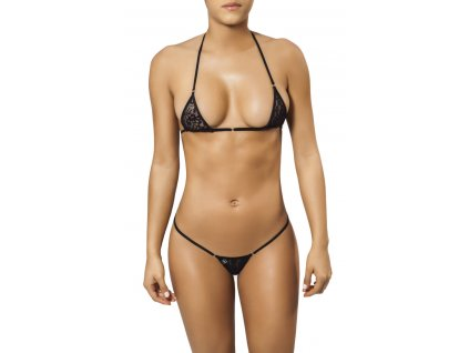 Joe Snyder MYKONOS-TINOS string bikiny black-lace JS-WC-101201