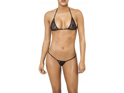 Joe Snyder SANTORINI-SKYROS string bikiny black-lace JS-WC-102202