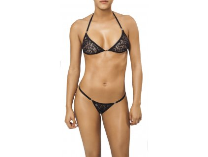 Joe Snyder LEMNOS-NAXOS kini bikiny black-lace JS-WC-104204