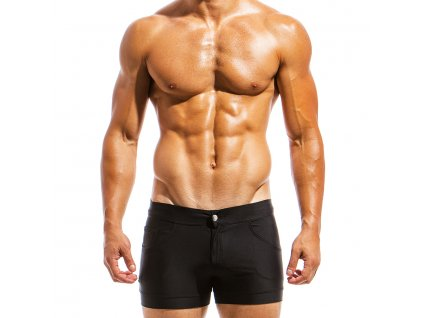 ms1831 black fr(2) modus vivendi swimwear basics line short